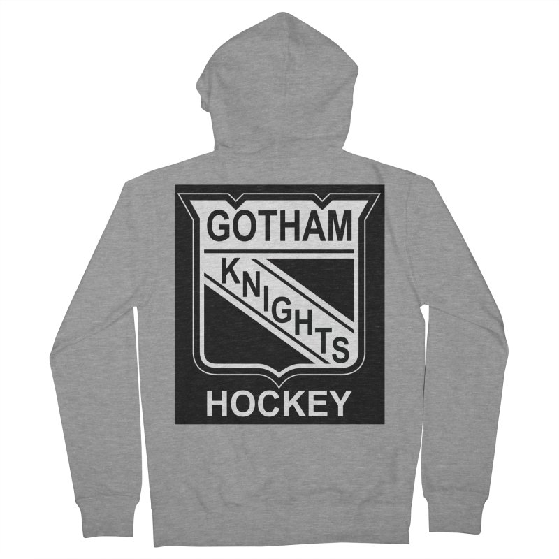 Gotham Knights Hockey Men's French Terry Zip-Up Hoody by punkrockandufos's Artist Shop