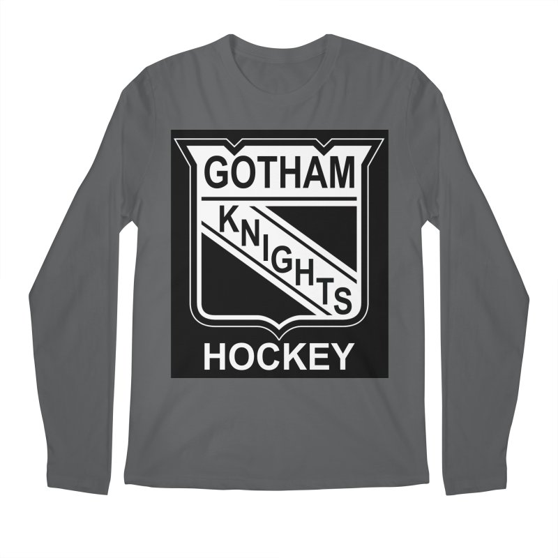 Gotham Knights Hockey Men's Regular Longsleeve T-Shirt by punkrockandufos's Artist Shop