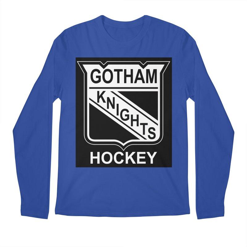 Gotham Knights Hockey Men's Regular Longsleeve T-Shirt by punkrockandufos's Artist Shop