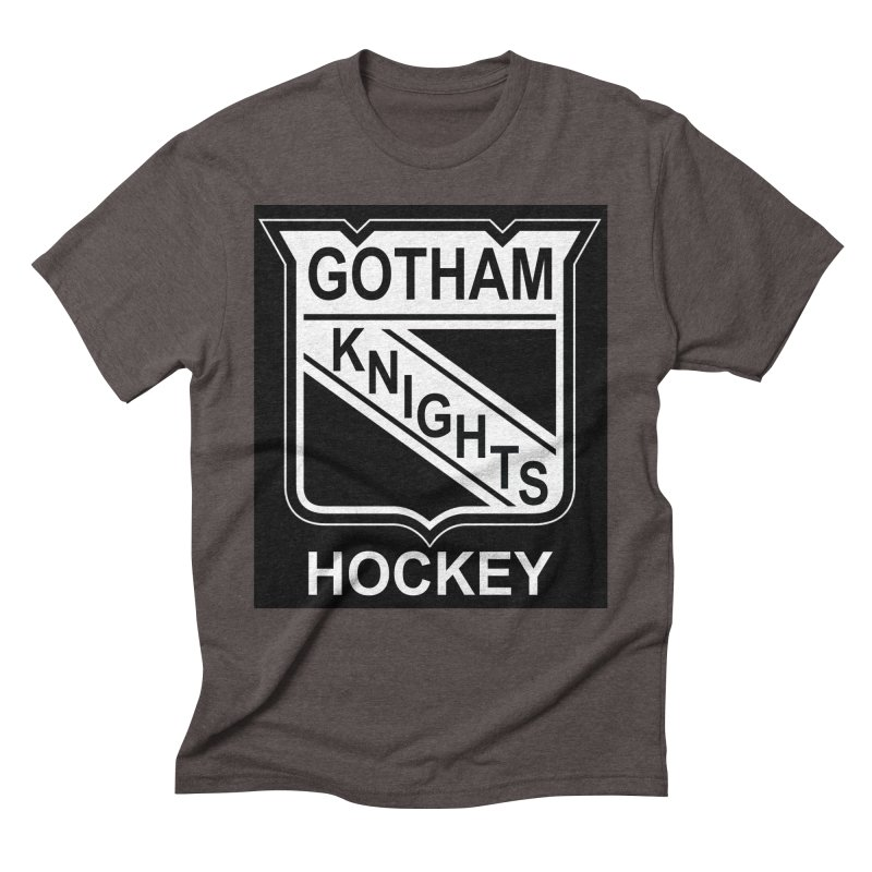 Gotham Knights Hockey Men's Triblend T-Shirt by punkrockandufos's Artist Shop