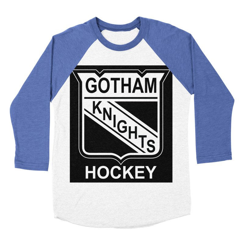 Gotham Knights Hockey Women's Baseball Triblend Longsleeve T-Shirt by punkrockandufos's Artist Shop