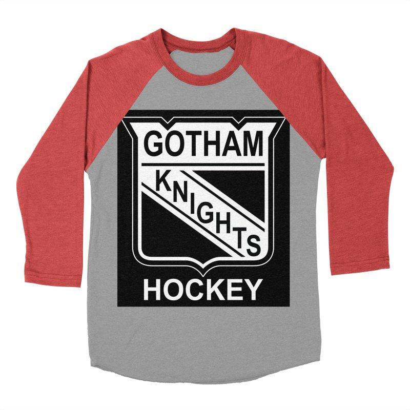 Gotham Knights Hockey Women's Baseball Triblend Longsleeve T-Shirt by punkrockandufos's Artist Shop