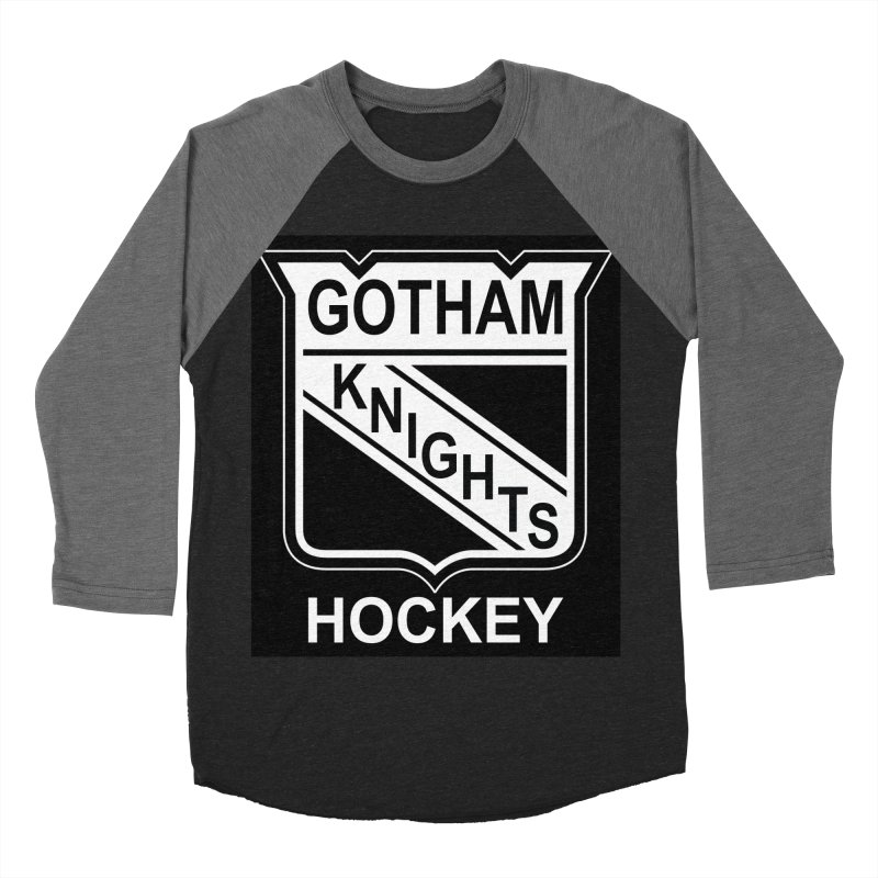 Gotham Knights Hockey Men's Baseball Triblend Longsleeve T-Shirt by punkrockandufos's Artist Shop