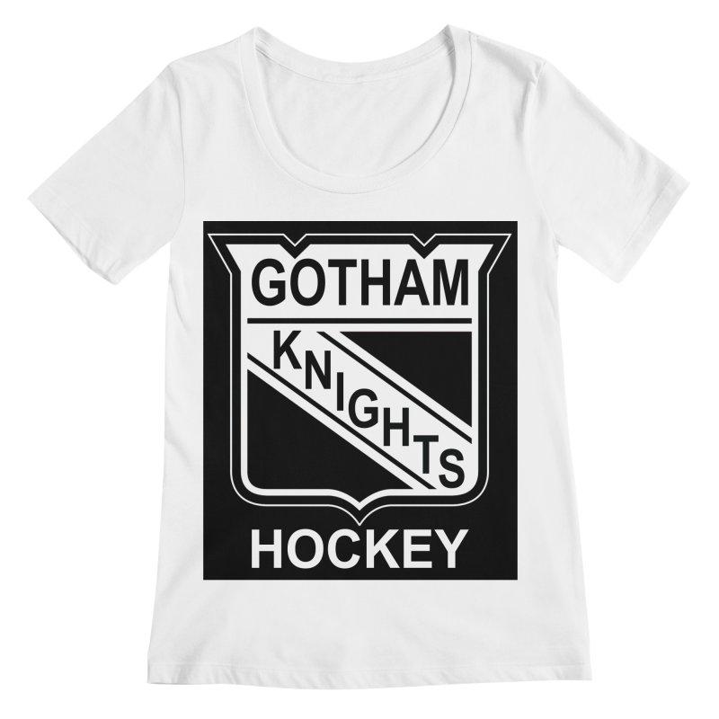 Gotham Knights Hockey Women's Regular Scoop Neck by punkrockandufos's Artist Shop