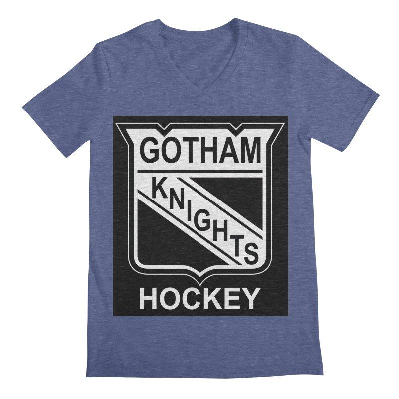 Gotham Knights Hockey Men's Regular V-Neck by punkrockandufos's Artist Shop