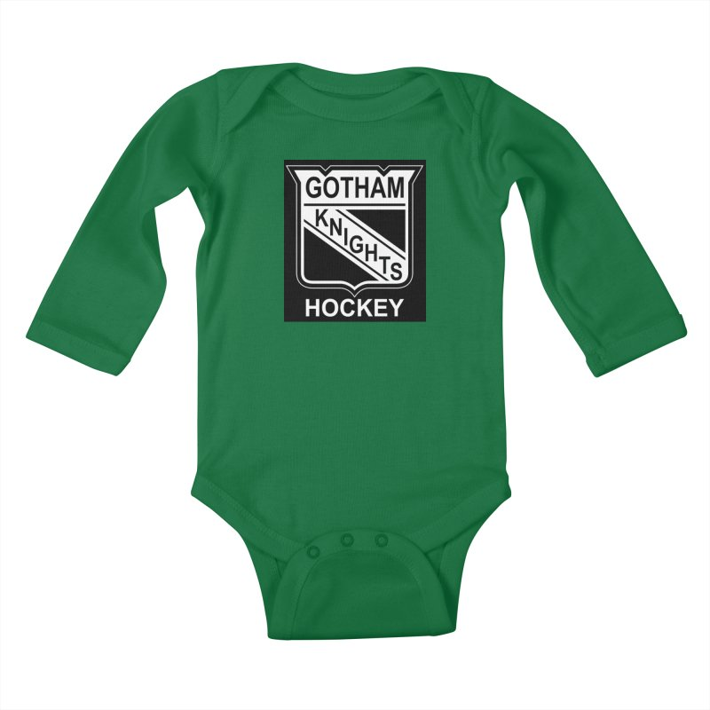 Gotham Knights Hockey Kids Baby Longsleeve Bodysuit by punkrockandufos's Artist Shop