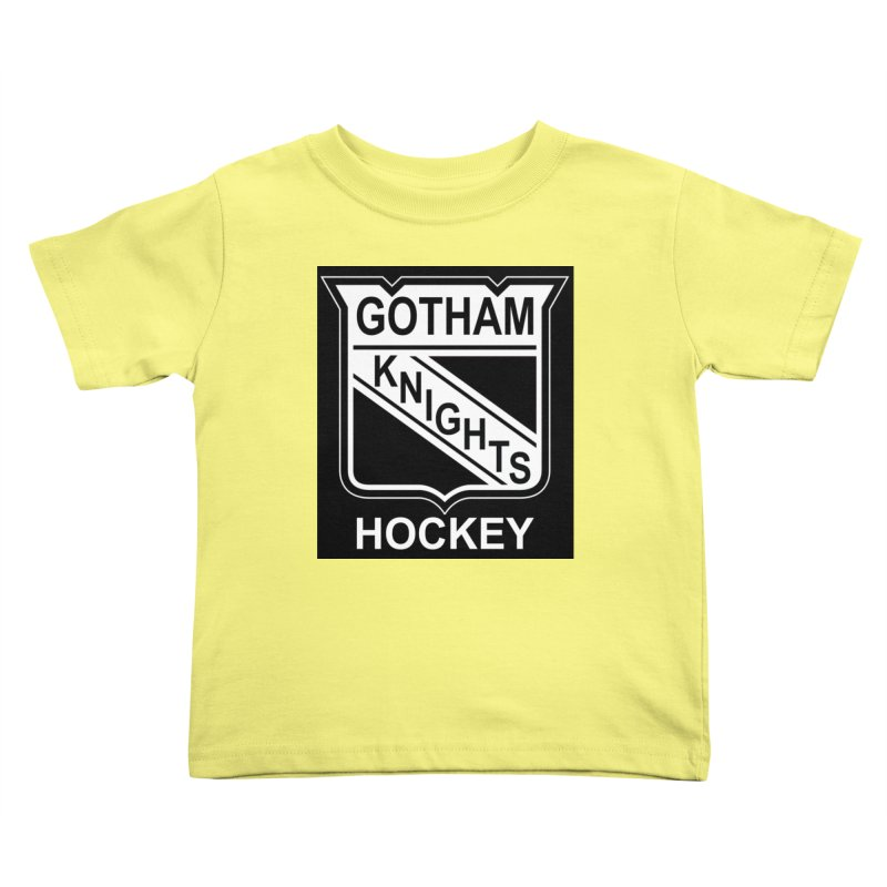 Gotham Knights Hockey Kids Toddler T-Shirt by punkrockandufos's Artist Shop