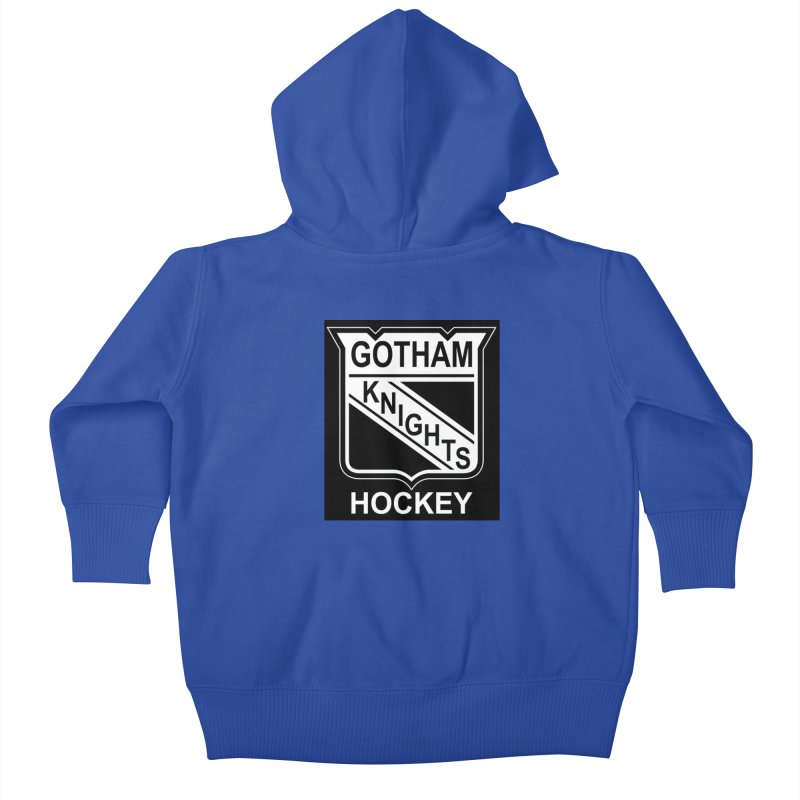 Gotham Knights Hockey Kids Baby Zip-Up Hoody by punkrockandufos's Artist Shop