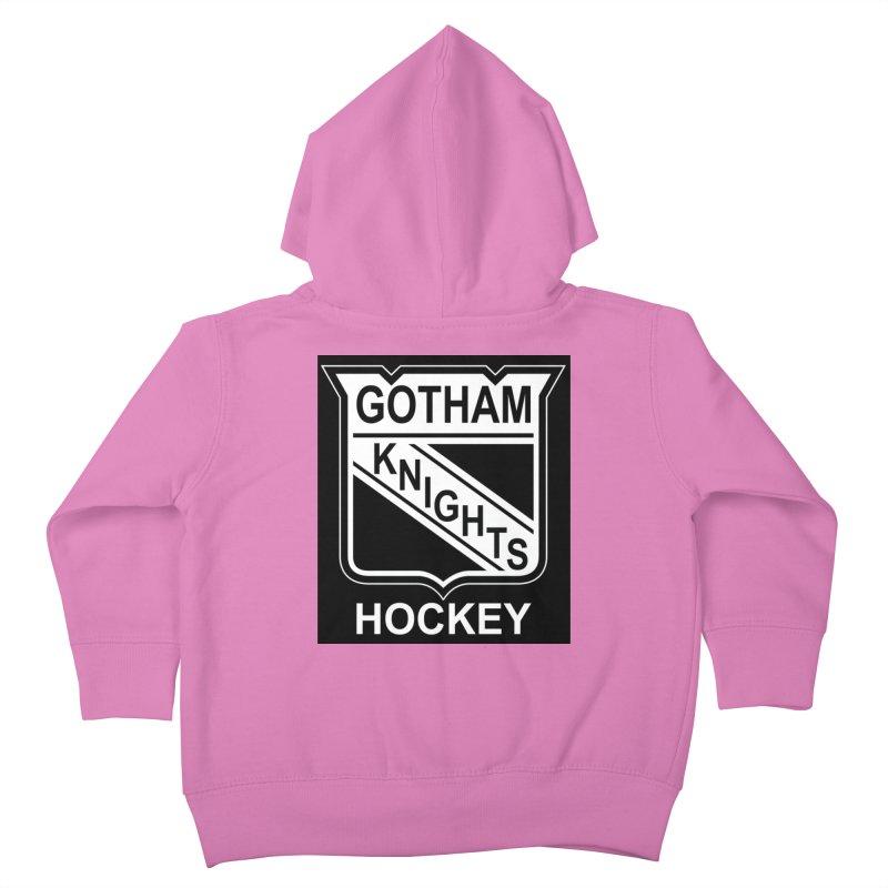 Gotham Knights Hockey Kids Toddler Zip-Up Hoody by punkrockandufos's Artist Shop