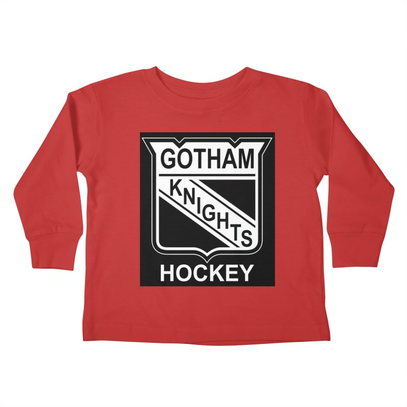 Gotham Knights Hockey Kids Toddler Longsleeve T-Shirt by punkrockandufos's Artist Shop
