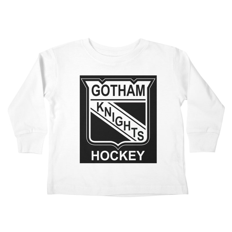 Gotham Knights Hockey Kids Toddler Longsleeve T-Shirt by punkrockandufos's Artist Shop