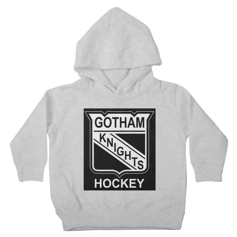 Gotham Knights Hockey Kids Toddler Pullover Hoody by punkrockandufos's Artist Shop