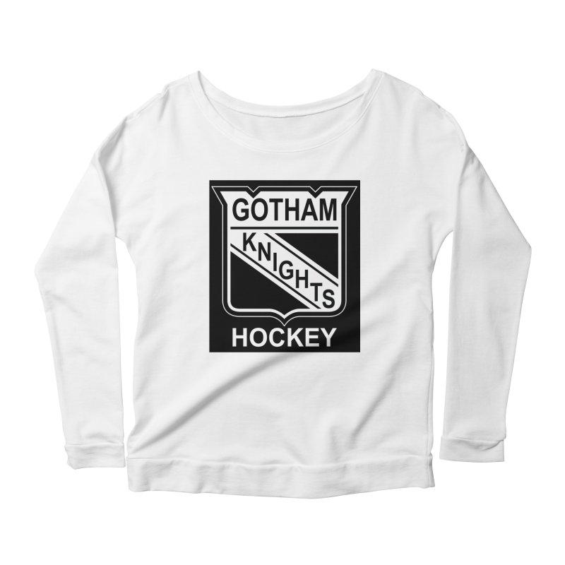 Gotham Knights Hockey Women's Scoop Neck Longsleeve T-Shirt by punkrockandufos's Artist Shop