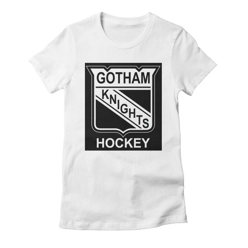 Gotham Knights Hockey Women's Fitted T-Shirt by punkrockandufos's Artist Shop