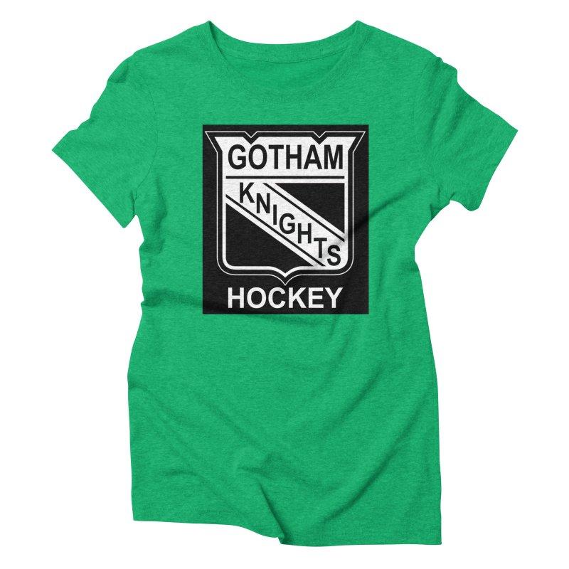 Gotham Knights Hockey Women's Triblend T-Shirt by punkrockandufos's Artist Shop