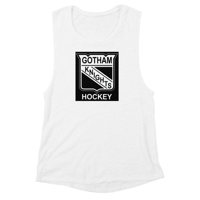 Gotham Knights Hockey Women's Muscle Tank by punkrockandufos's Artist Shop