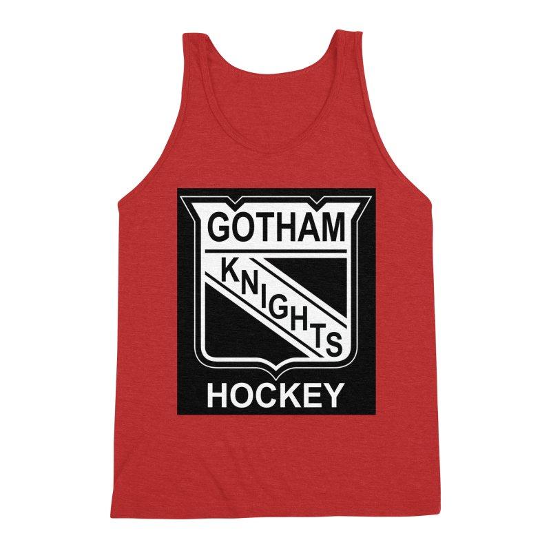 Gotham Knights Hockey Men's Triblend Tank by punkrockandufos's Artist Shop