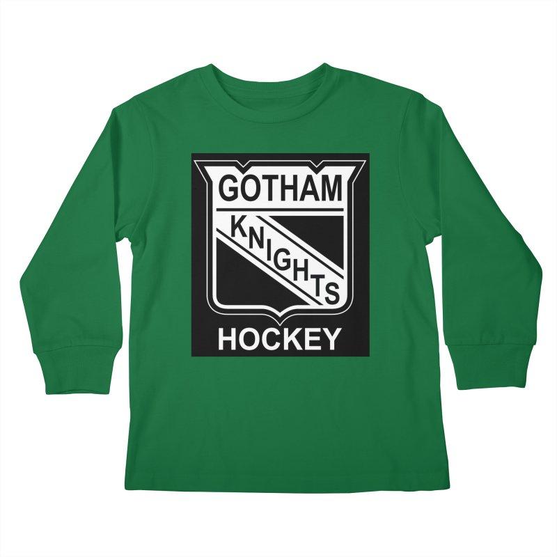 Gotham Knights Hockey Kids Longsleeve T-Shirt by punkrockandufos's Artist Shop