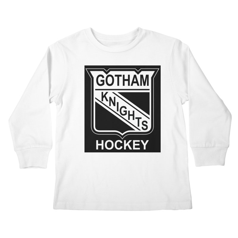 Gotham Knights Hockey Kids Longsleeve T-Shirt by punkrockandufos's Artist Shop