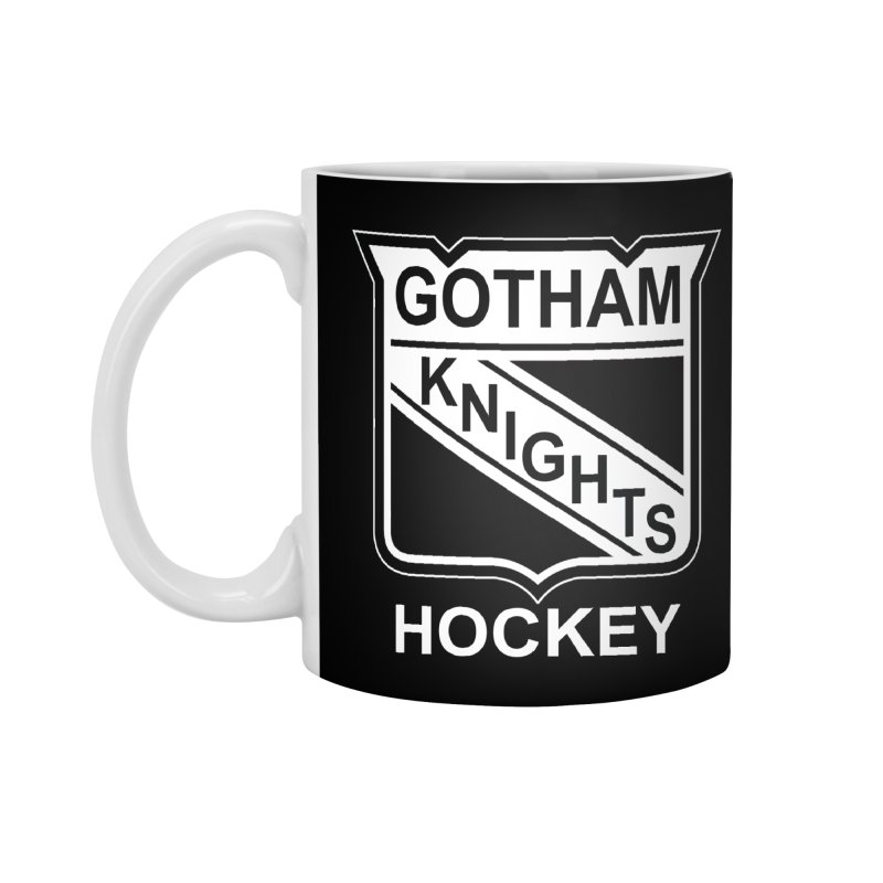 Gotham Knights Hockey Accessories Standard Mug by punkrockandufos's Artist Shop