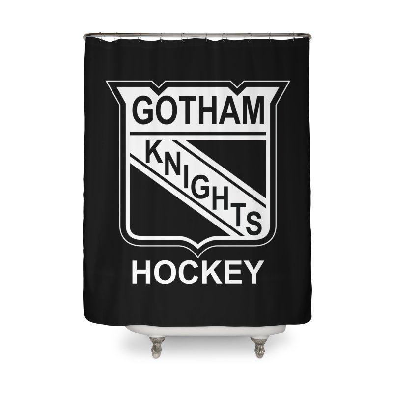 Gotham Knights Hockey Home Shower Curtain by punkrockandufos's Artist Shop