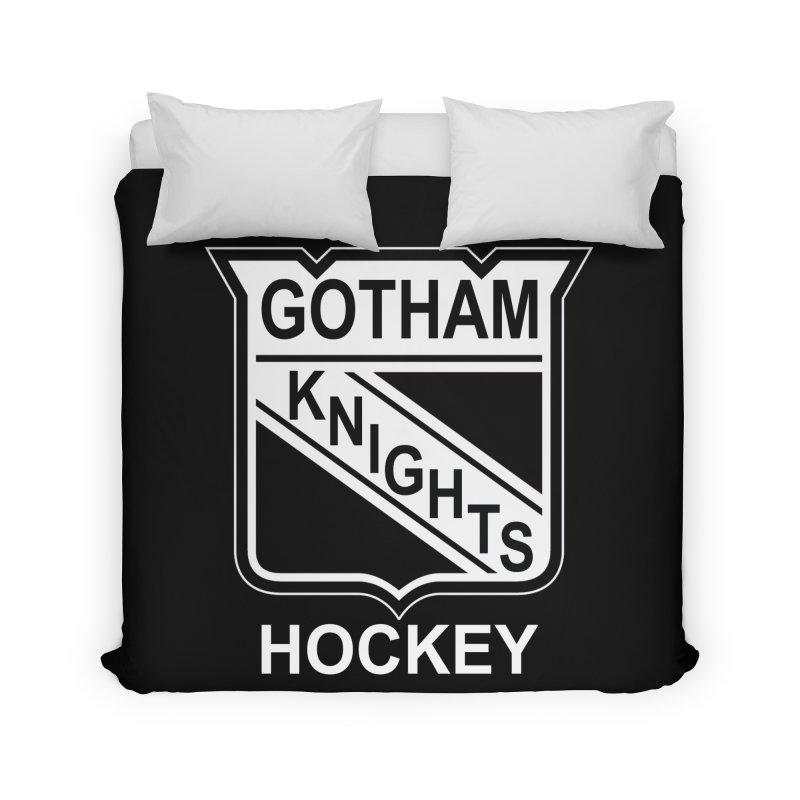 Gotham Knights Hockey Home Duvet by punkrockandufos's Artist Shop