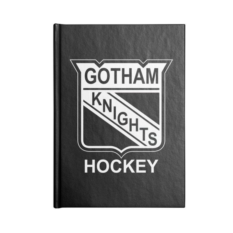 Gotham Knights Hockey Accessories Lined Journal Notebook by punkrockandufos's Artist Shop