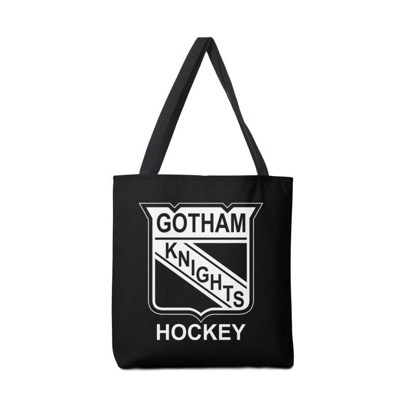 Gotham Knights Hockey Accessories Tote Bag Bag by punkrockandufos's Artist Shop