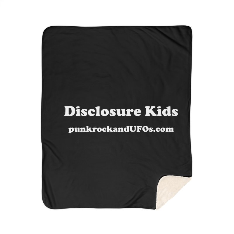 Disclosure Kids Home Sherpa Blanket Blanket by punkrockandufos's Artist Shop