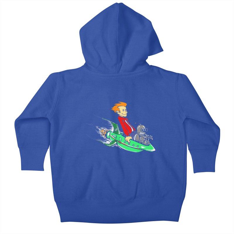 Bender & Fry Kids Baby Zip-Up Hoody by punksthetic's Artist Shop