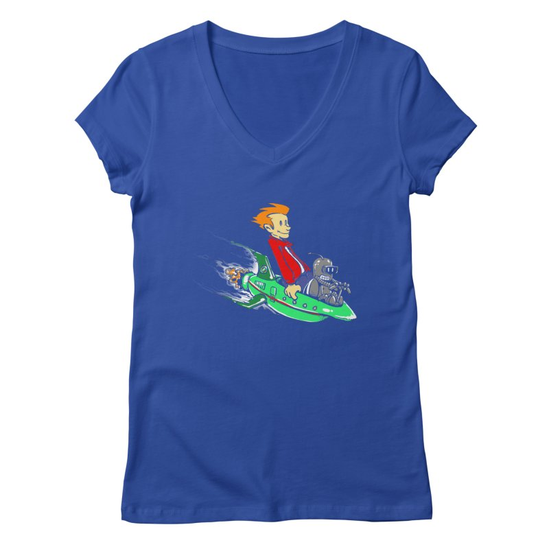 Bender & Fry Women's V-Neck by punksthetic's Artist Shop