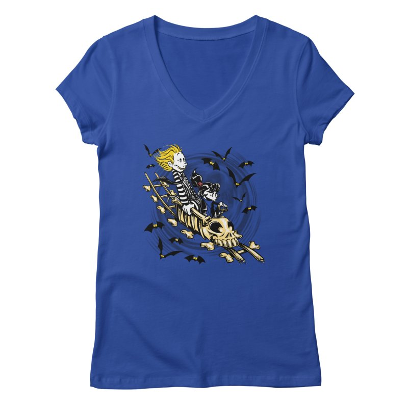 Calvydia & Beetlehobbes Women's V-Neck by punksthetic's Artist Shop