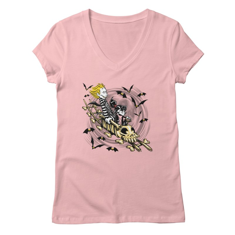 Calvydia & Beetlehobbes Women's V-Neck by punksthetic's Artist Shop