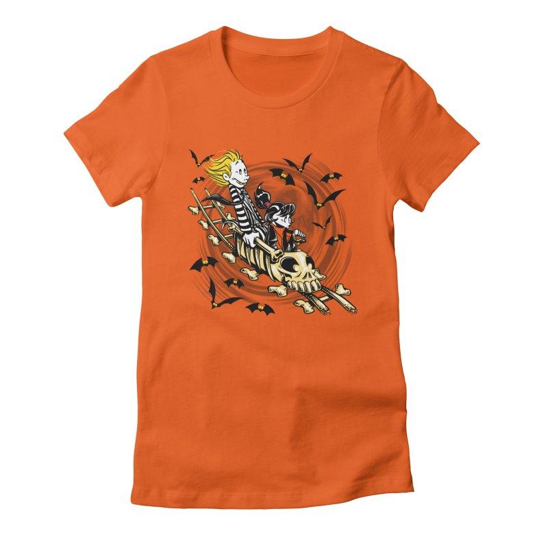 Calvydia & Beetlehobbes Women's Fitted T-Shirt by punksthetic's Artist Shop