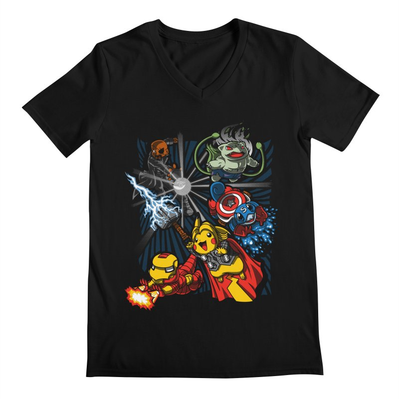 Avengermon Men's V-Neck by punksthetic's Artist Shop