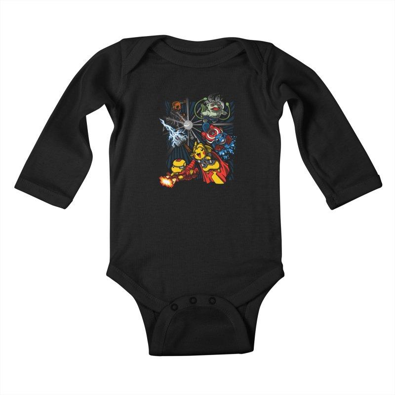 Avengermon Kids Baby Longsleeve Bodysuit by punksthetic's Artist Shop