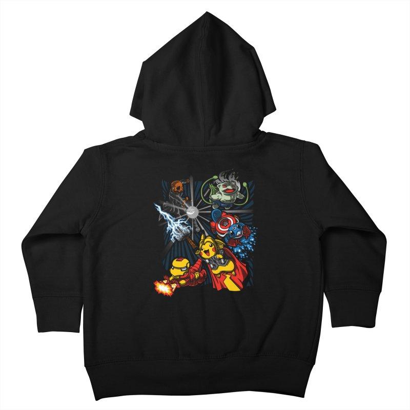 Avengermon Kids Toddler Zip-Up Hoody by punksthetic's Artist Shop