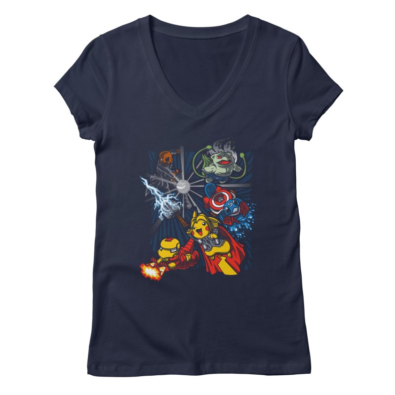 Avengermon Women's V-Neck by punksthetic's Artist Shop