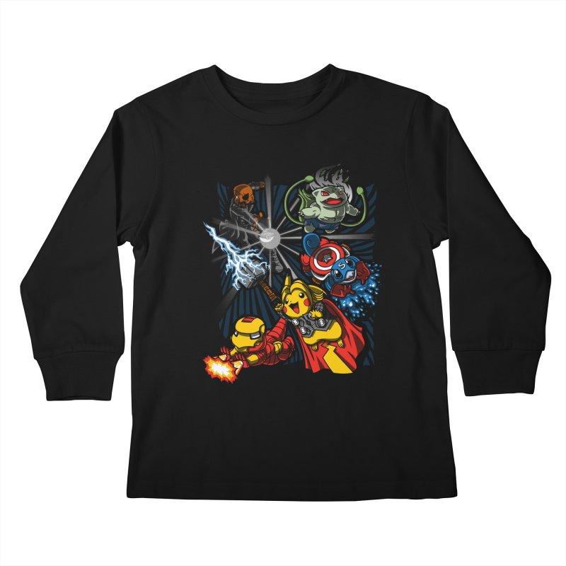 Avengermon Kids Longsleeve T-Shirt by punksthetic's Artist Shop