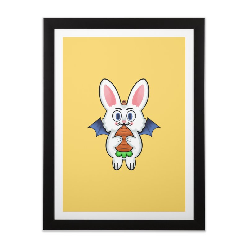 Unicorn Bunny Vampire Home Framed Fine Art Print by Punk Zoo!