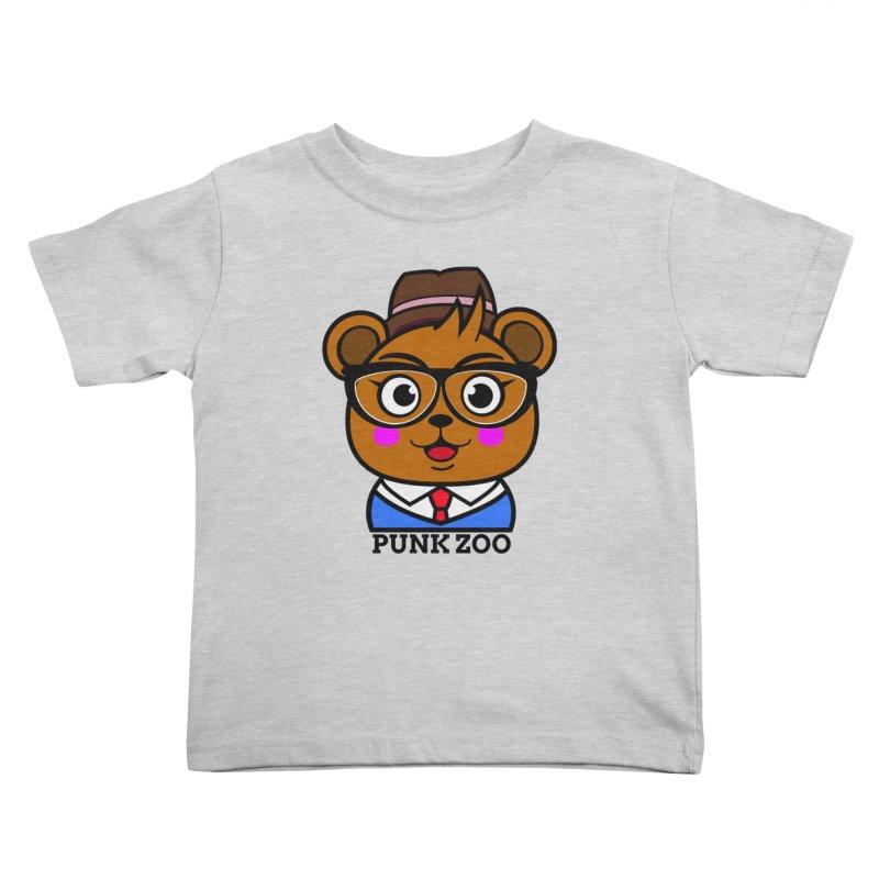 Hipster Bear Kids Toddler T-Shirt by punkzoo's Artist Shop