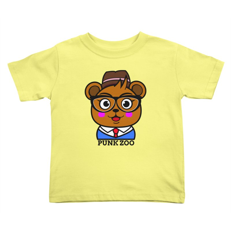 Hipster Bear Kids Toddler T-Shirt by punkzoo's Artist Shop