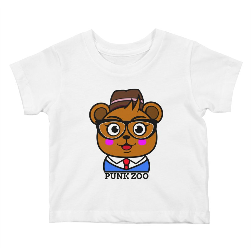 Hipster Bear Kids Baby T-Shirt by punkzoo's Artist Shop