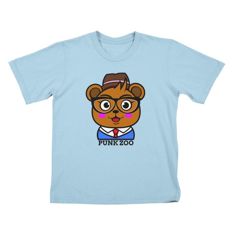 Hipster Bear Kids T-Shirt by punkzoo's Artist Shop