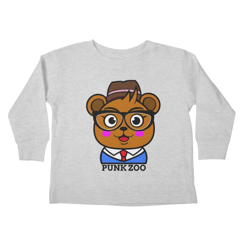 Hipster Bear Kids Toddler Longsleeve T-Shirt by punkzoo's Artist Shop