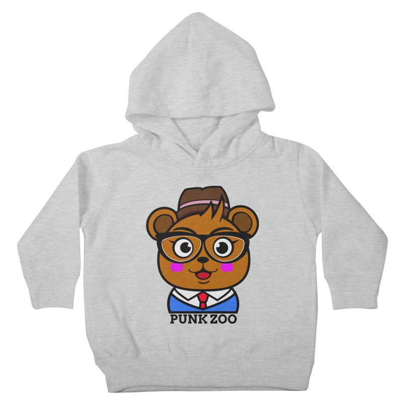 Hipster Bear Kids Toddler Pullover Hoody by punkzoo's Artist Shop