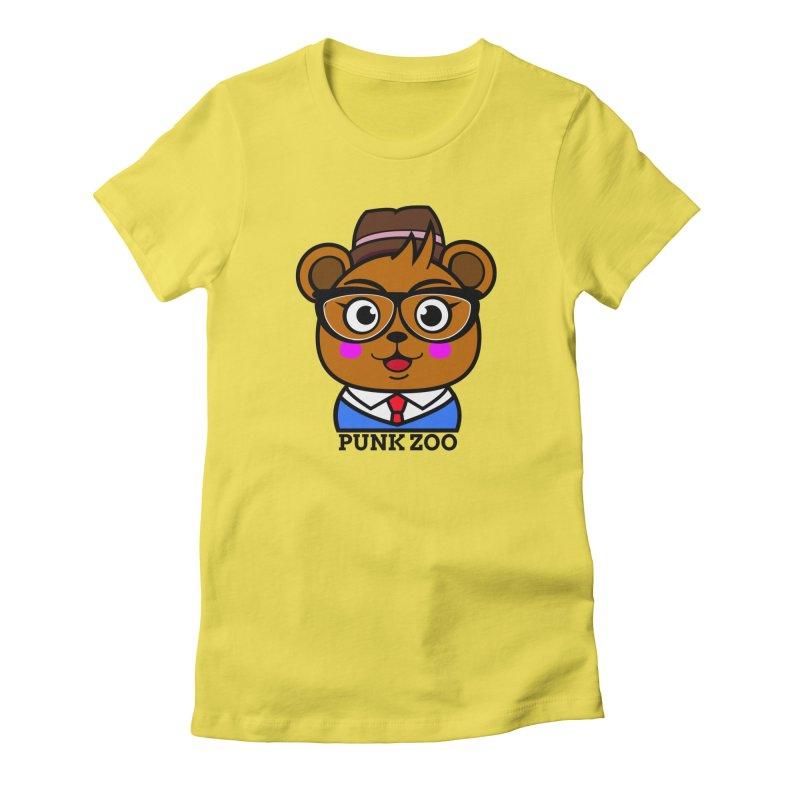 Hipster Bear Women's T-Shirt by punkzoo's Artist Shop