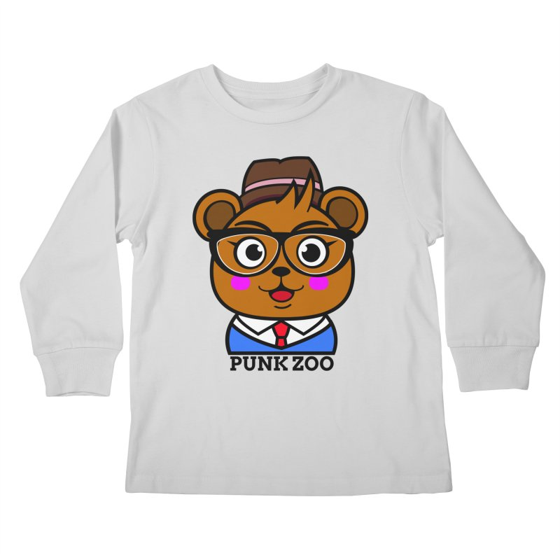 Hipster Bear Kids Longsleeve T-Shirt by Punk Zoo!