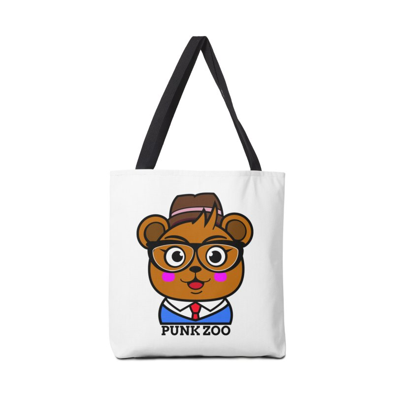 Hipster Bear Accessories Bag by punkzoo's Artist Shop