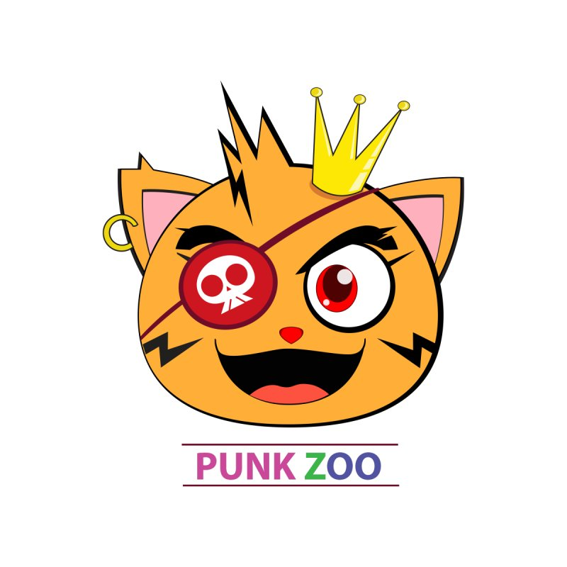 Punk Zoo King Neko Kids T-Shirt by punkzoo's Artist Shop